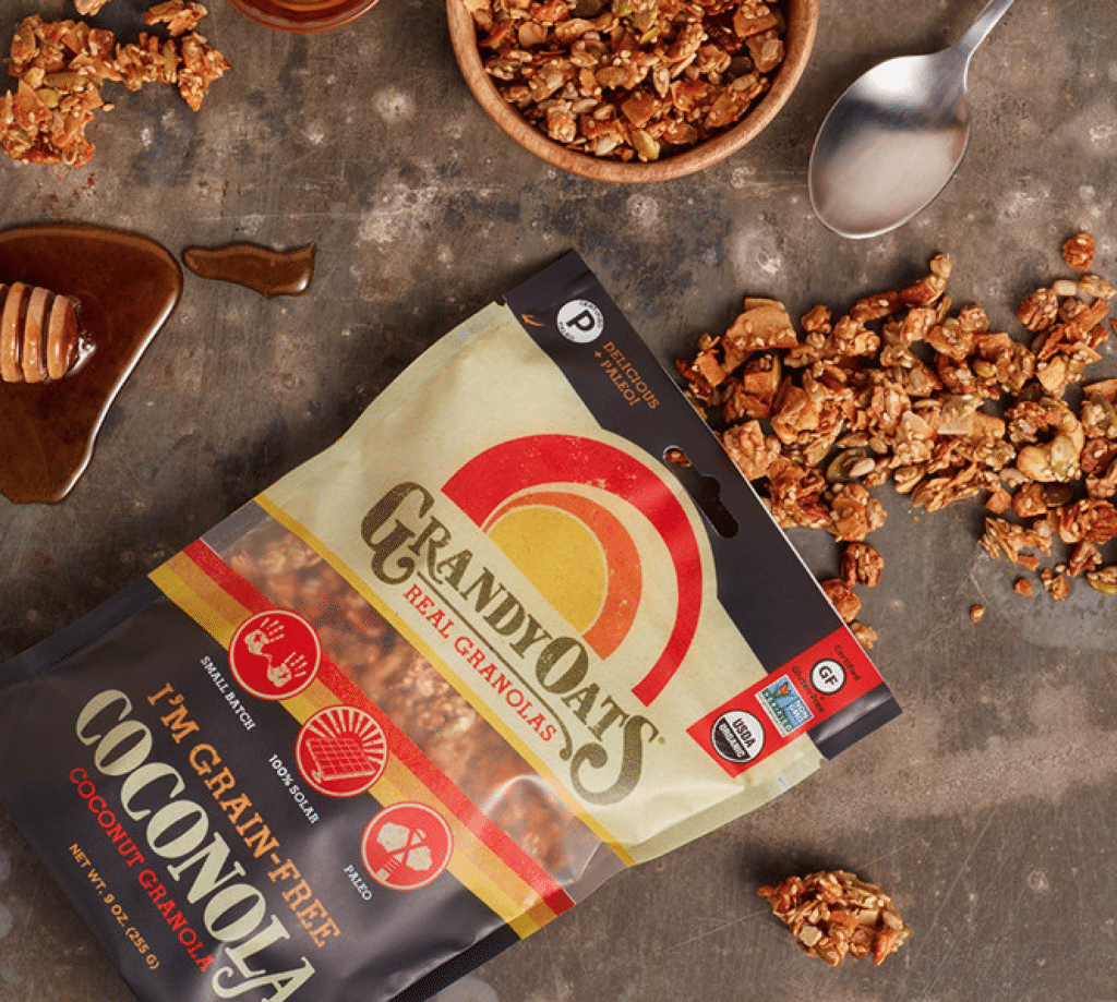 Grandy Oats Certified Paleo and Gluten Free Coconut Granola