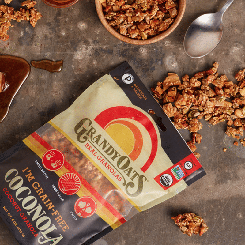 Grandy Oats Certified Paleo and Gluten Free Coconut Granola