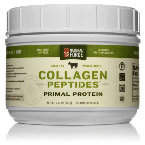 Grass-fed Collagen Peptides - Natural Force - Certified Paleo, KETO Certified - Paleo Foundation