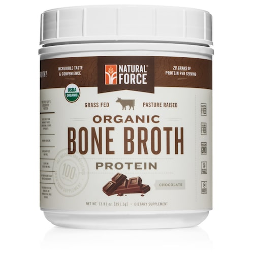 Grass-fed Organic Beef Bone Broth (Chocolate) - Natural Force - KETO Certified - Paleo Foundation