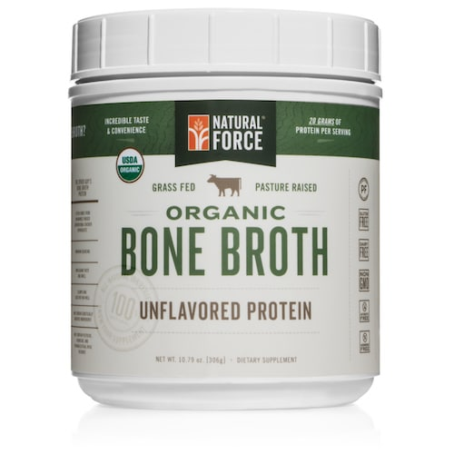 Grass-fed Organic Beef Bone Broth (Unflavored) - Natural Force - KETO Certified - Paleo Foundation