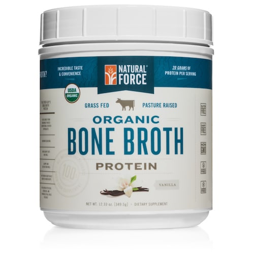 Grass-fed Organic Beef Bone Broth (Vanilla) - Natural Force - KETO Certified - Paleo Foundation