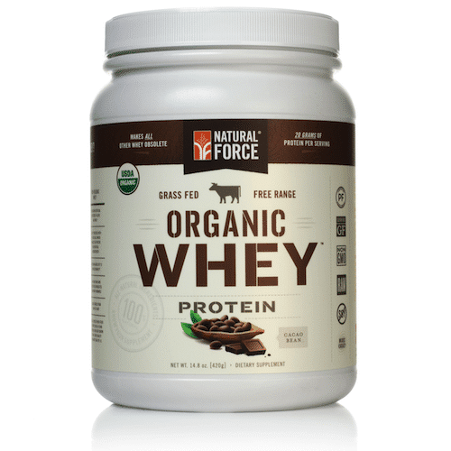 Grass-fed Organic Whey Protein (Cacao Bean) - Natural Force - KETO Certified - Paleo Foundation