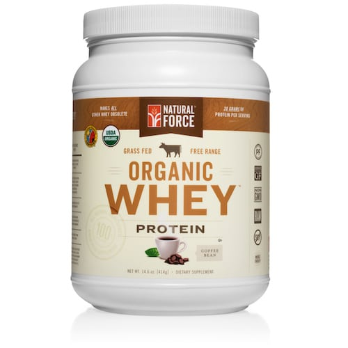Grass-fed Organic Whey Protein (Coffee Bean) - Natural Force - KETO Certified - Paleo Foundation