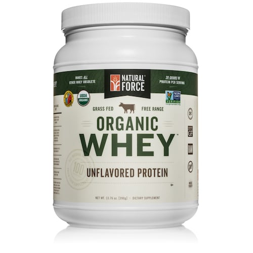 Grass-fed Organic Whey Protein (Unflavored) - Natural Force - KETO Certified - Paleo Foundation