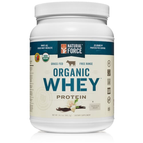 Grass-fed Organic Whey Protein (Vanilla Bean) - Natural Force - KETO Certified - Paleo Foundation