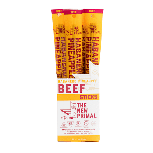 Habanero Pineapple Beef Sticks - The New Primal - Certified Paleo, KETO Certified - Paleo Foundation