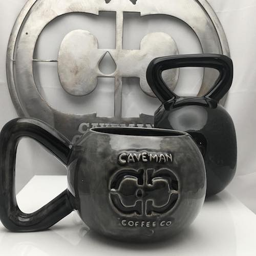 Handmade Kettlebell mugs - Caveman Coffee Co - Certified Paleo, Keto Certified, Paleo Vegan - Paleo Foundation