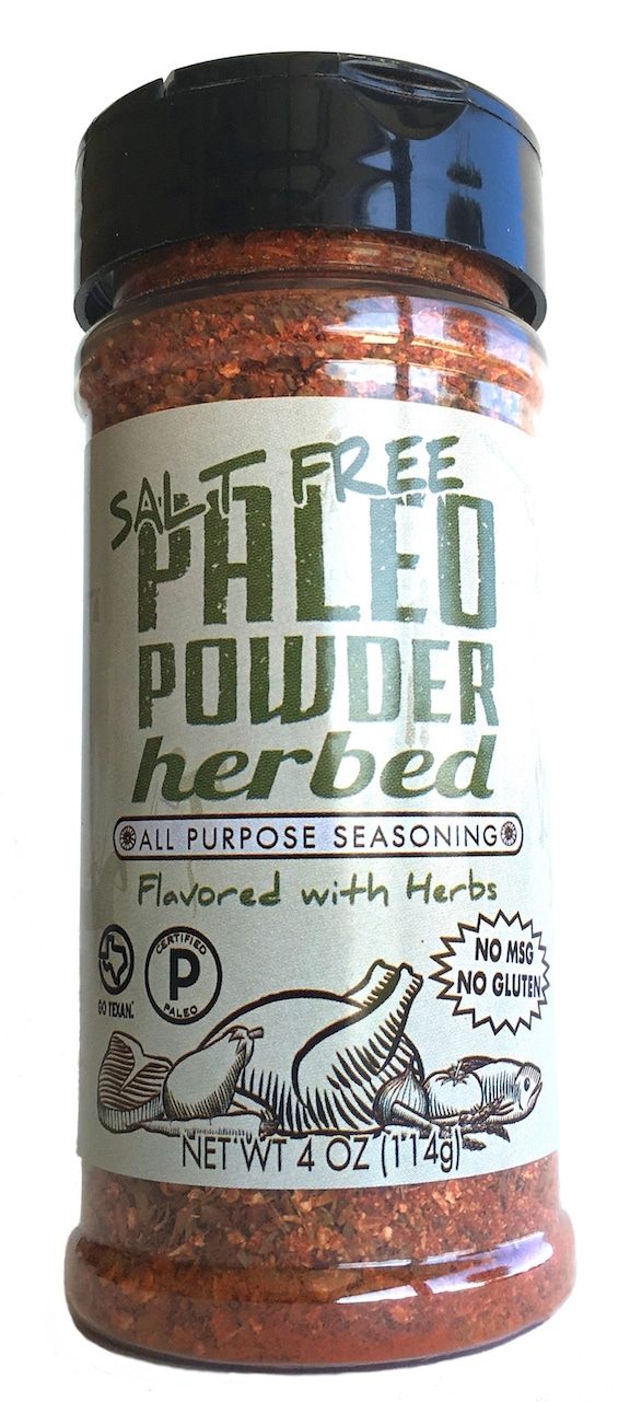 Herbed Paleo Powder Seasonings - At Paleo Powder Seasonings, we exist to provide the everyday home cook flavorful, one-stop, healthy seasoning blends. All of our products are Certified Paleo, Whole30 Approved and GO TEXAN. #paleo #certifiedpaleo #aipfriendly