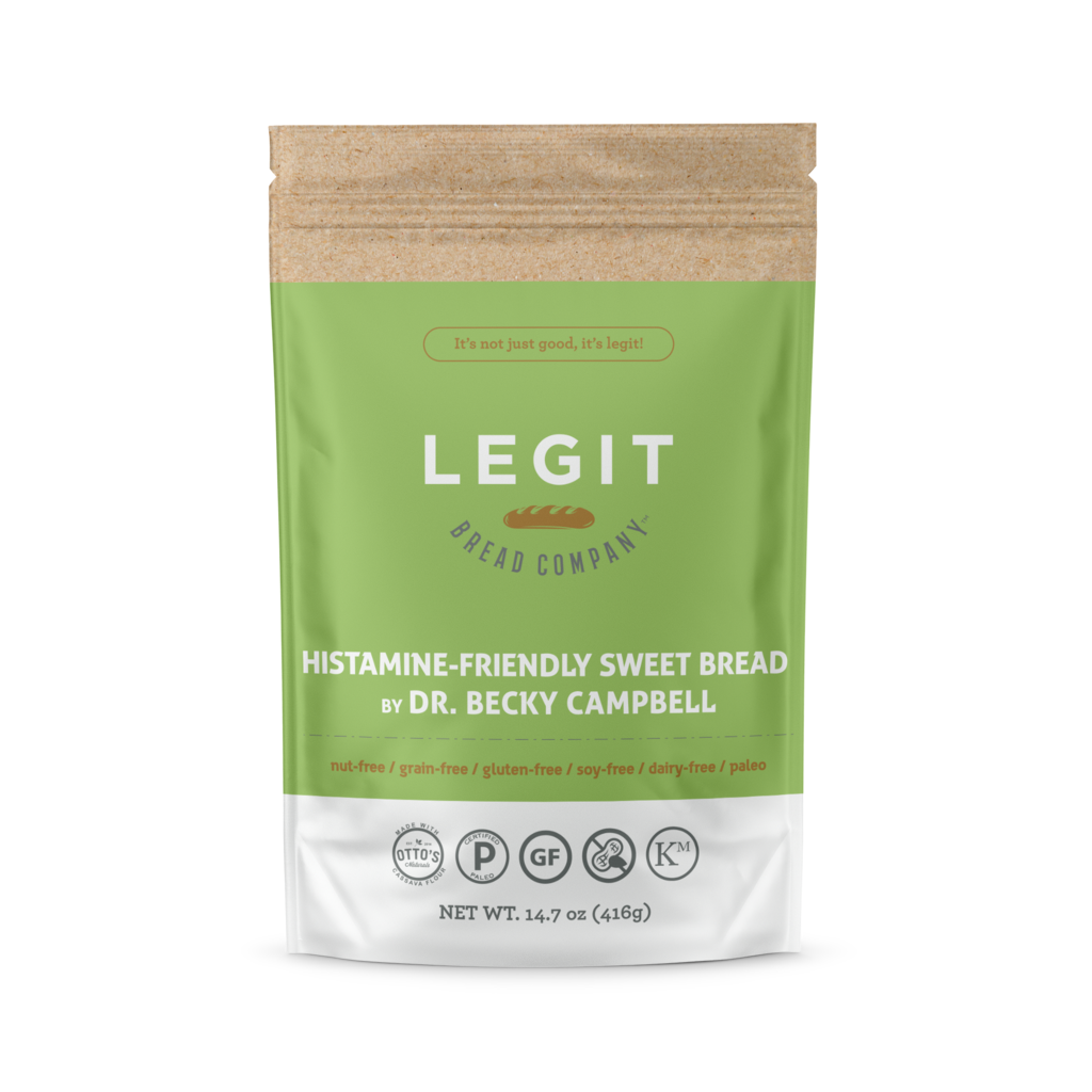 Histamine Friendly Sweet Bread - Legit Bread Co - Certified Paleo by the Paleo Foundation
