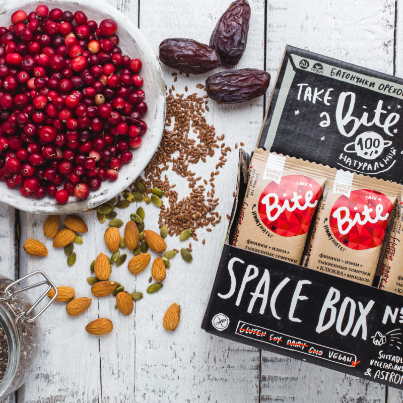 Take a Bite Cranberries - BioFoodLab - Bite Bar is 100% raw nut and fruit bar from Russia made by BioFoodLab company. All the ingredients can be read, understood, and pronounced by everyone. Made from 100% natural ingredients. No use of chemical additives. #certifiedpaleo #paleo