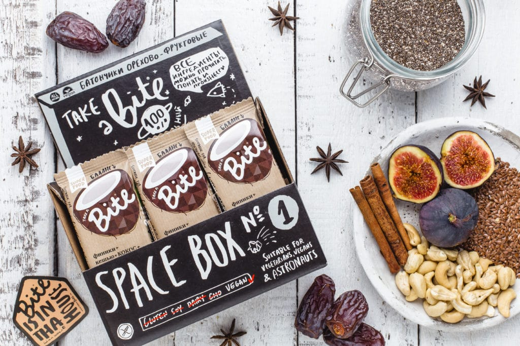 Take a Bite Coconut - BioFoodLab - Bite Bar is 100% raw nut and fruit bar from Russia made by BioFoodLab company. All the ingredients can be read, understood, and pronounced by everyone. Made from 100% natural ingredients. No use of chemical additives. #certifiedpaleo #paleo