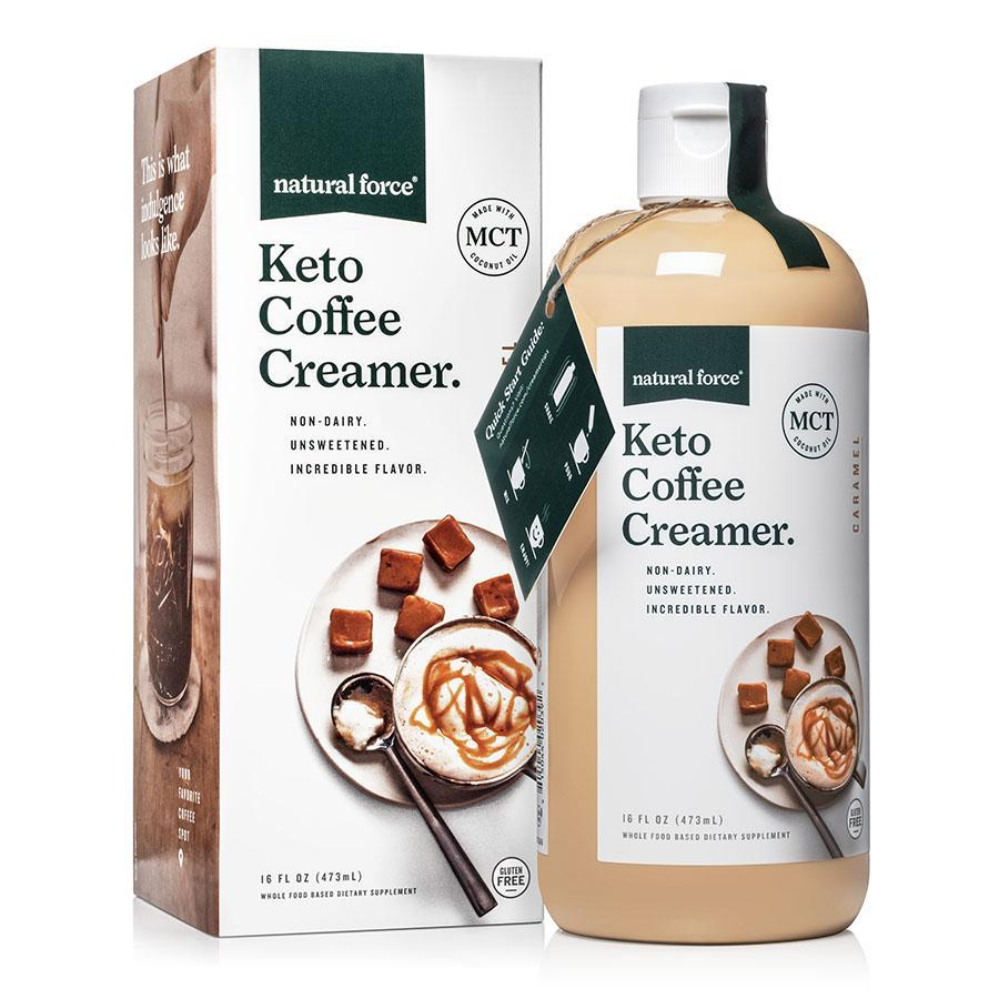 Keto Coffee Creamer Caramel - Natural Force - Certified Paleo Friendly, Keto Certified by the Paleo Foundation
