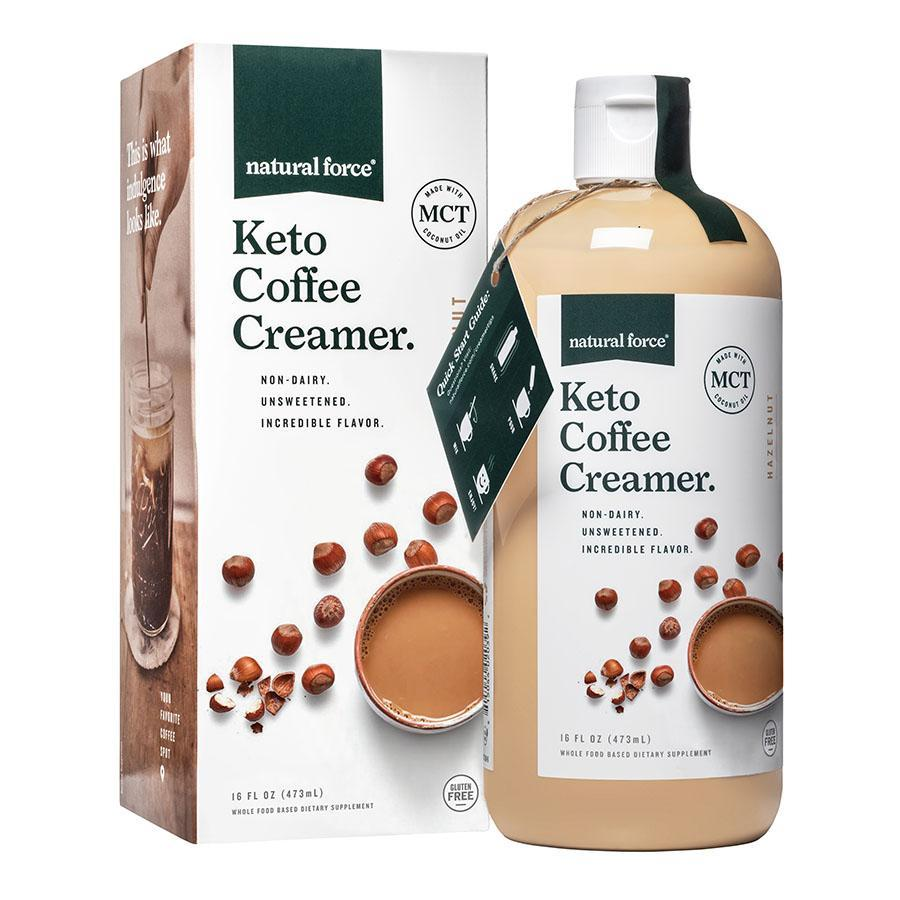 Keto Coffee Creamer Hazelnut - Natural Force - Certified Paleo Friendly, Keto Certified by the Paleo Foundation