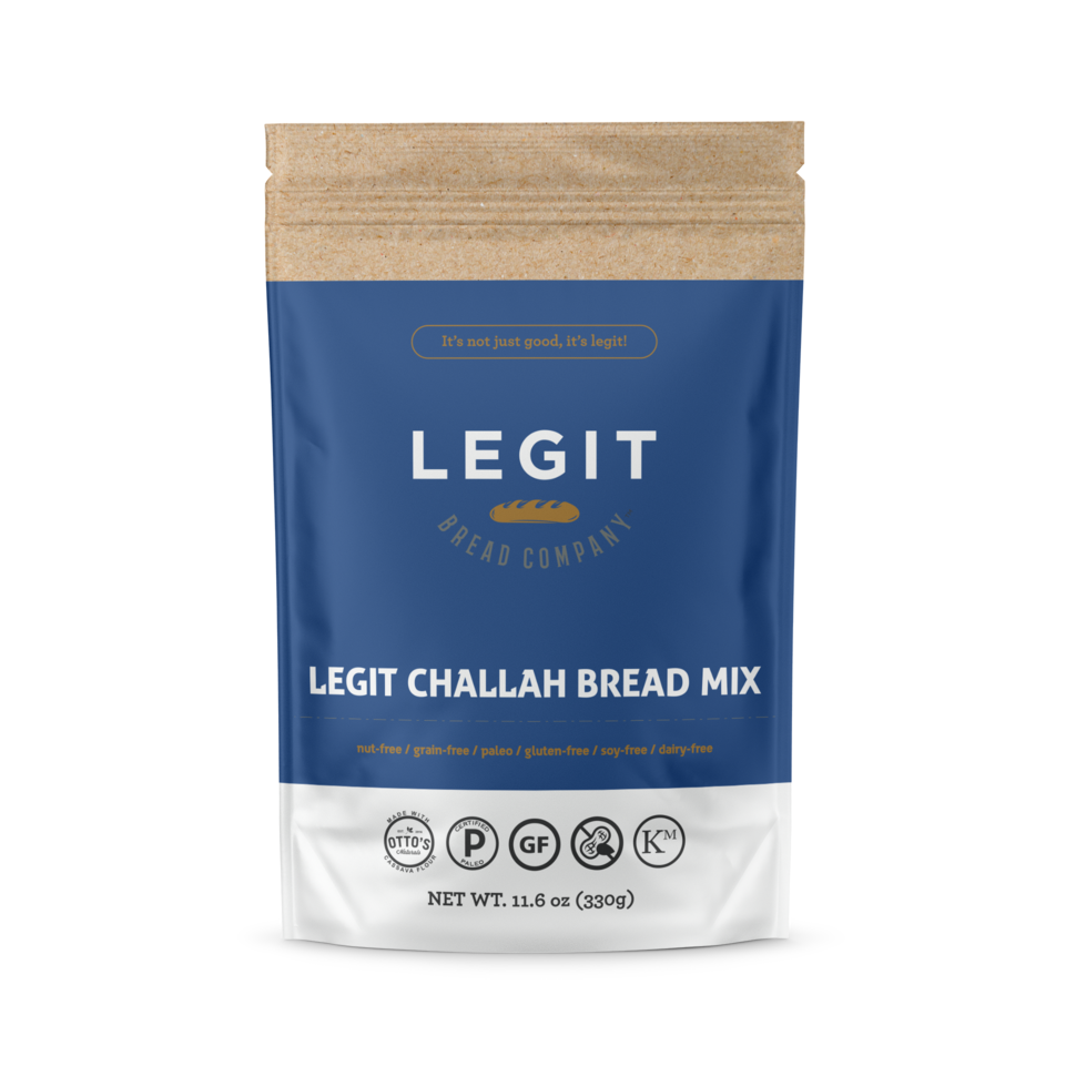 Legit Challah Bread Mix - Legit Bread Co - Certified Paleo by the Paleo Foundation