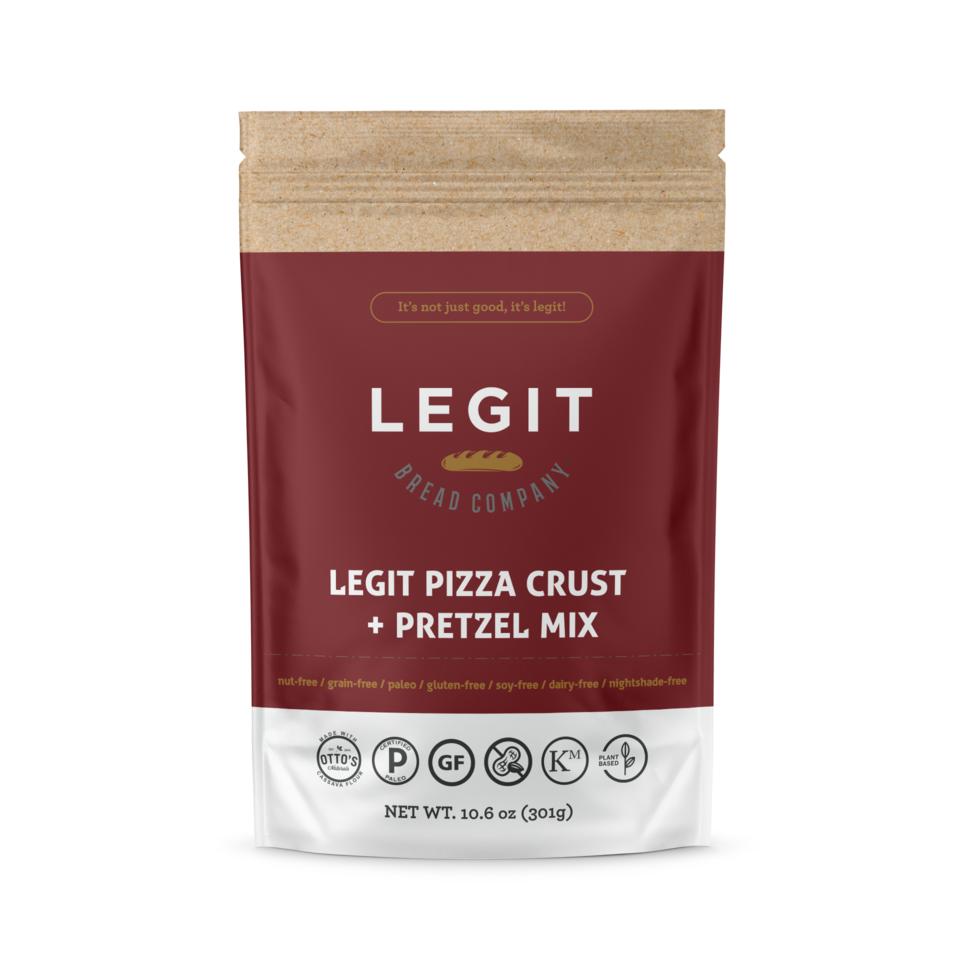 Legit Pizza Crust Plus Pretzel Mix - Legit Bread Co - Certified Paleo by the Paleo Foundation