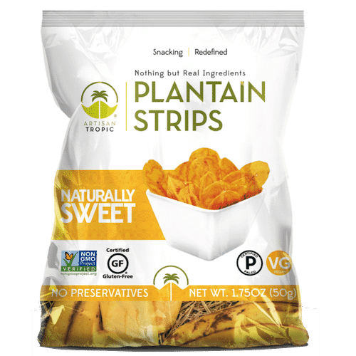 Naturally Sweet Plantain Chips 1.75oz - Artisan Tropic - Certified Paleo, Paleo Vegan - Paleo Foundation