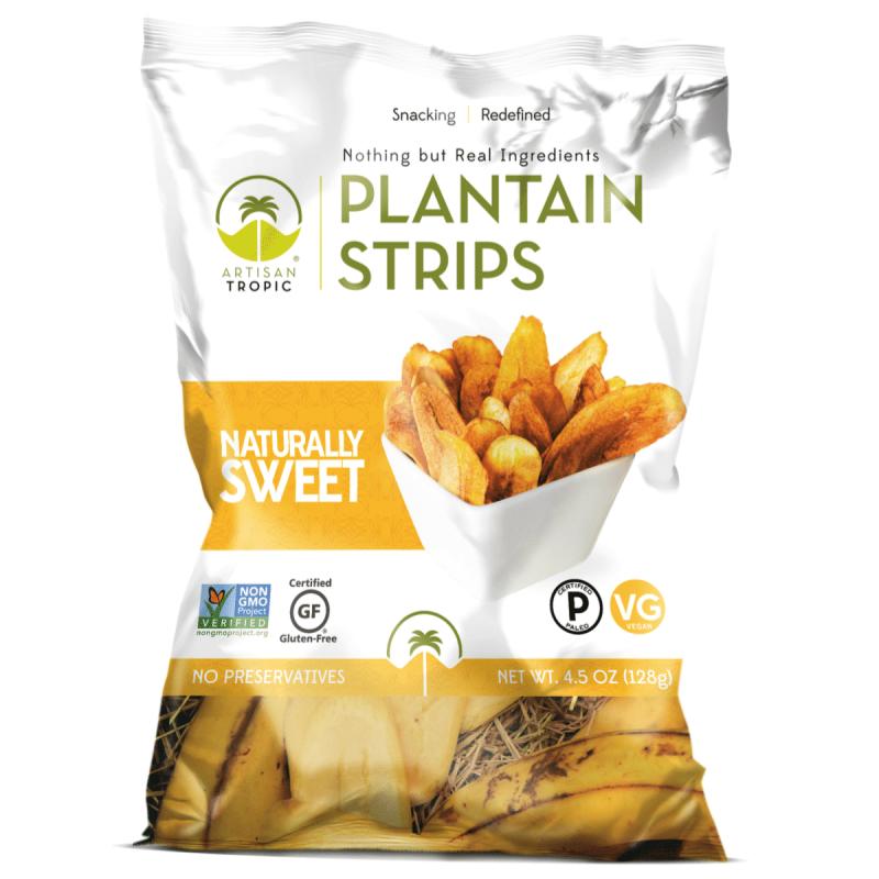 Naturally Sweet Plantain Chips 4.5oz - Artisan Tropic - Certified Paleo, Paleo Vegan - Paleo Foundation
