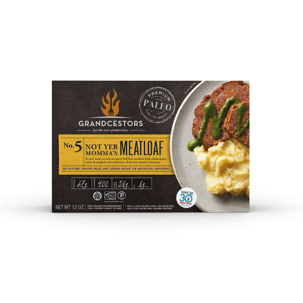 Not Yer Mama's Meatloaf - Grandcestors - Certified Paleo, Certified Grain Free Gluten Free by the Paleo Foundation