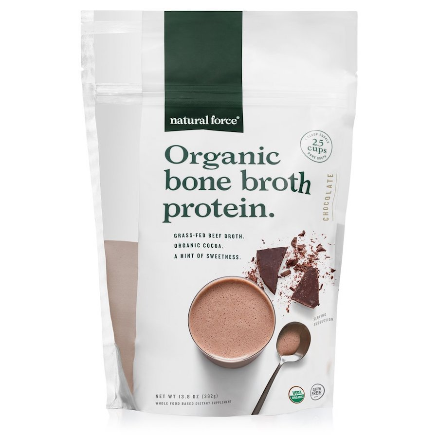 Organic Bone Broth Protein Chocolate - Natural Force - Keto Certified by the Paleo Foundation