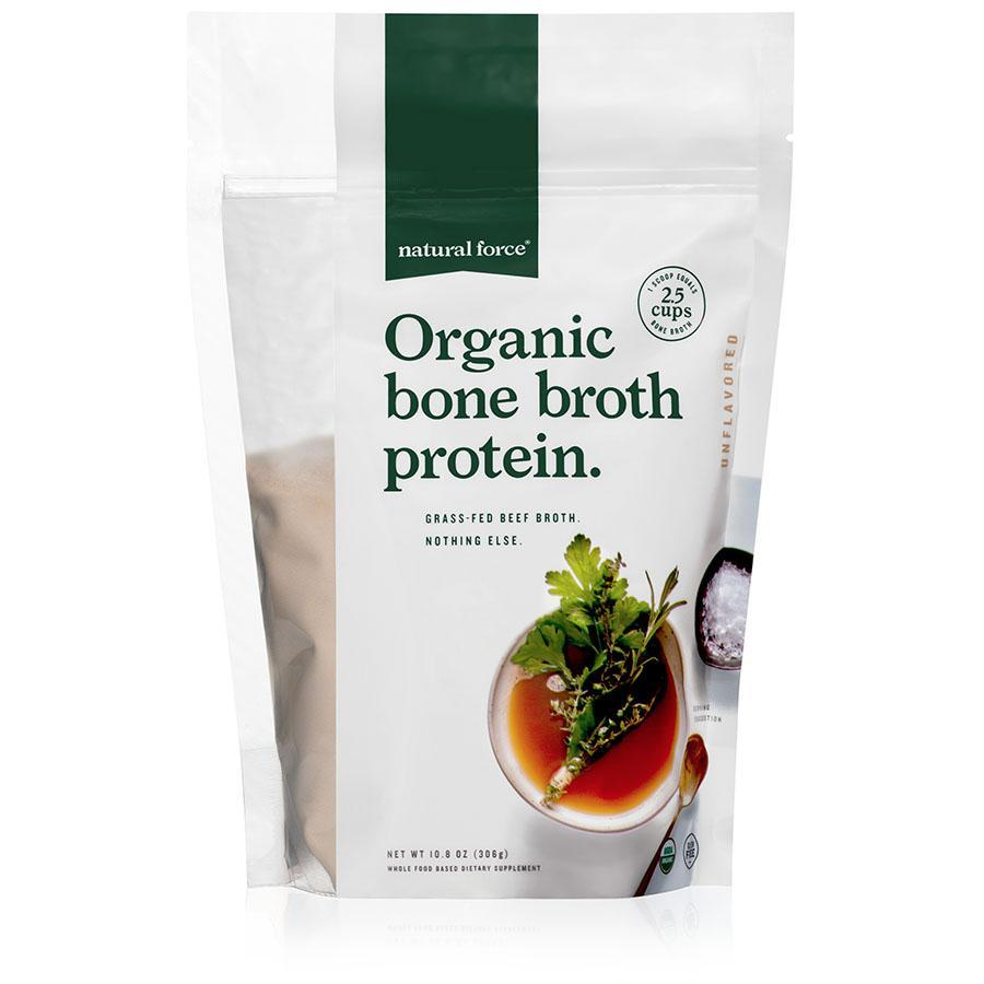 Organic Bone Broth Protein Unflavored - Natural Force - Certified Paleo Friendly, Keto Certified by the Paleo Foundation