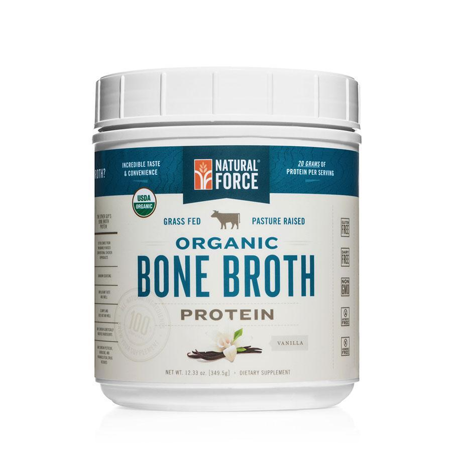 Organic Bone Broth Protein Vanilla - Natural Force - Keto Certified by the Paleo Foundation