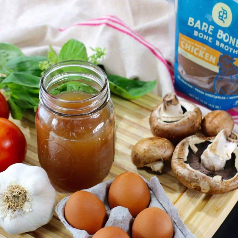 Organic Chicken Bone Broth 1 - Bare Bones Broth - Certified Paleo, KETO Certified by the Paleo Foundation