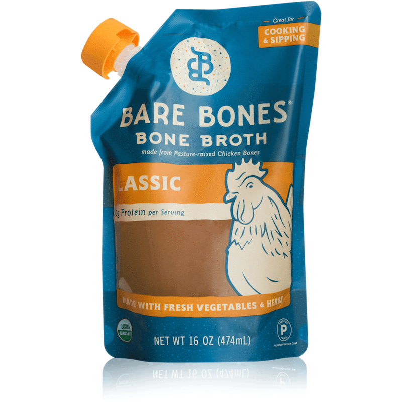 Organic Chicken Bone Broth - Bare Bones Broth - Certified Paleo, KETO Certified by the Paleo Foundation
