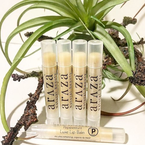 Organic Peppermint Luxe Lip Balm - Araza Beauty - Certified Paleo - Paleo Foundation