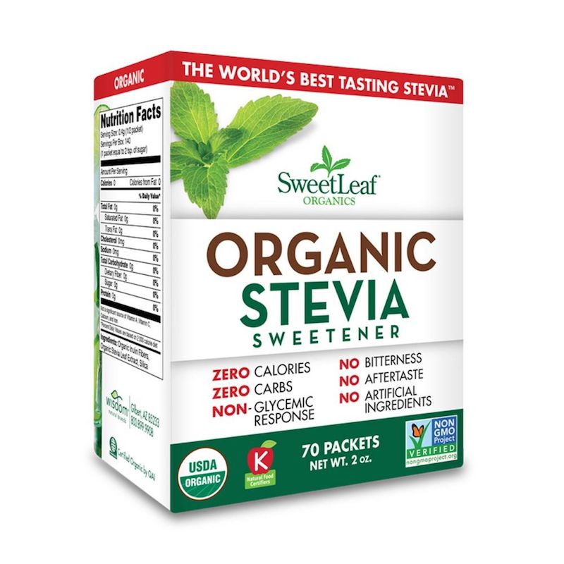 Organic Stevia Packets - SweetLeaf - Certified Paleo, PaleoVegan by the Paleo Foundation