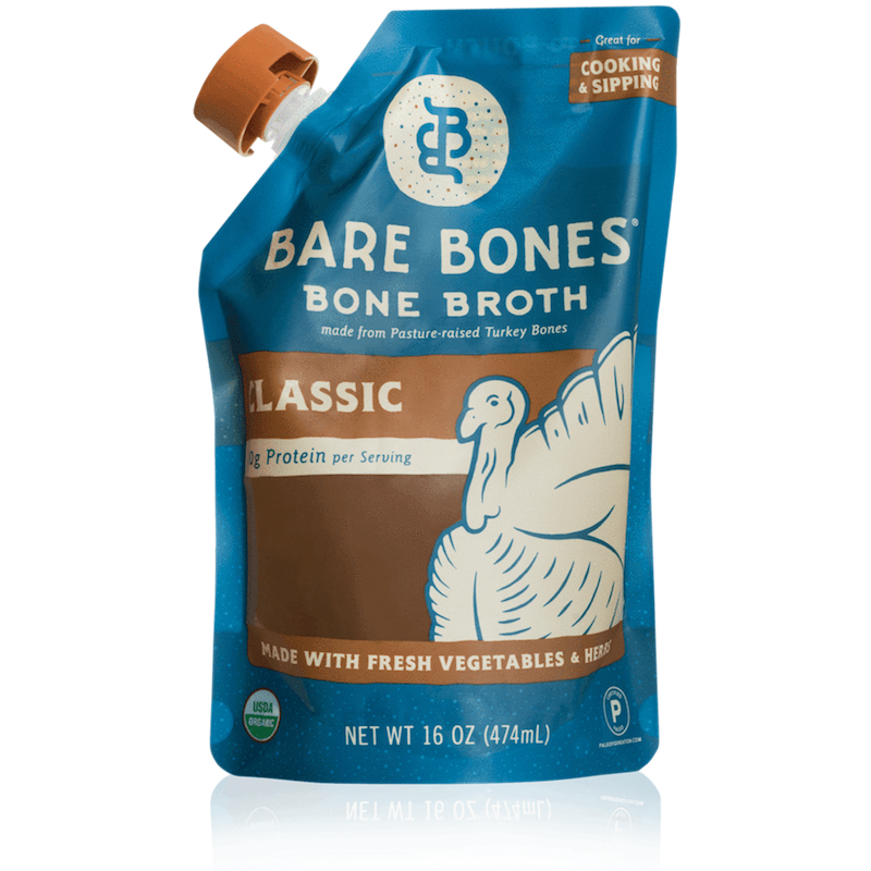 Organic Turkey Bone Broth - Bare Bones Broth - Certified Paleo, KETO Certified by the Paleo Foundation