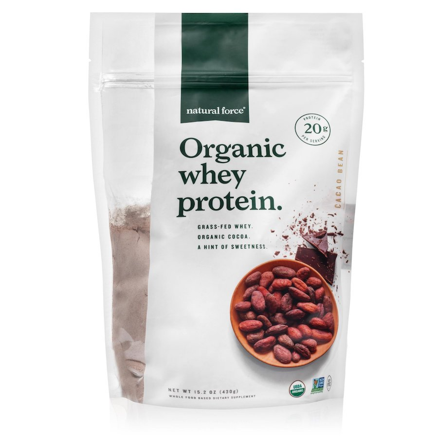 Organic Whey Protein - Cacao Bean - Natural Force - Certified Paleo Friendly, Keto Certified by the Paleo Foundation