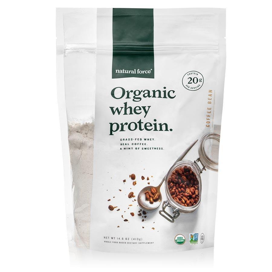 Organic Whey Protein - Coffee Bean - Natural Force - Certified Paleo Friendly, Keto Certified by the Paleo Foundation