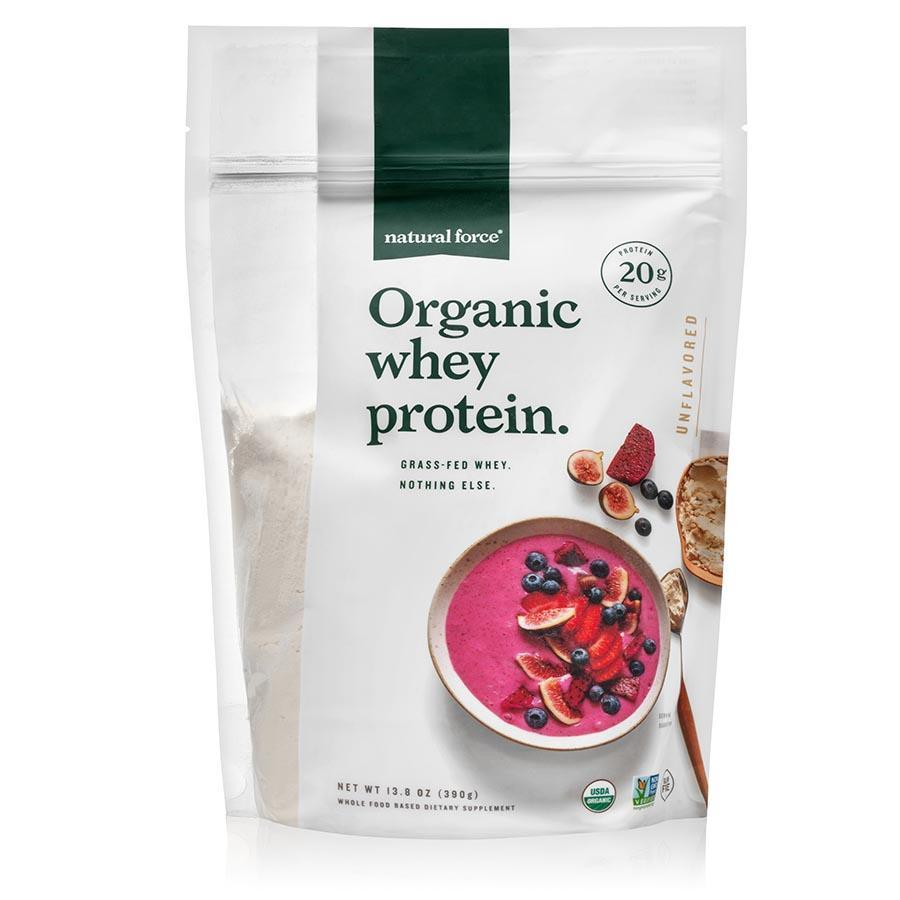 Organic Whey Protein - Unflavored - Natural Force - Certified Paleo Friendly, Keto Certified by the Paleo Foundation