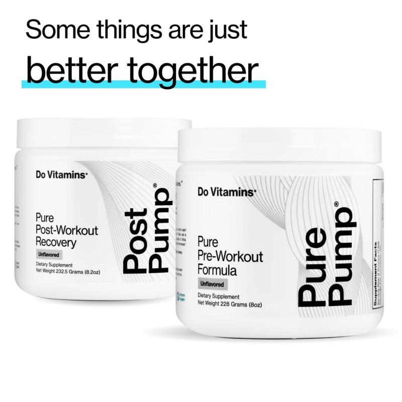 Post And Pre Pump - Do Vitamins - Certified Paleo, Keto Certified, Paleo Friendly, PaleoVegan by the Paleo Foundation