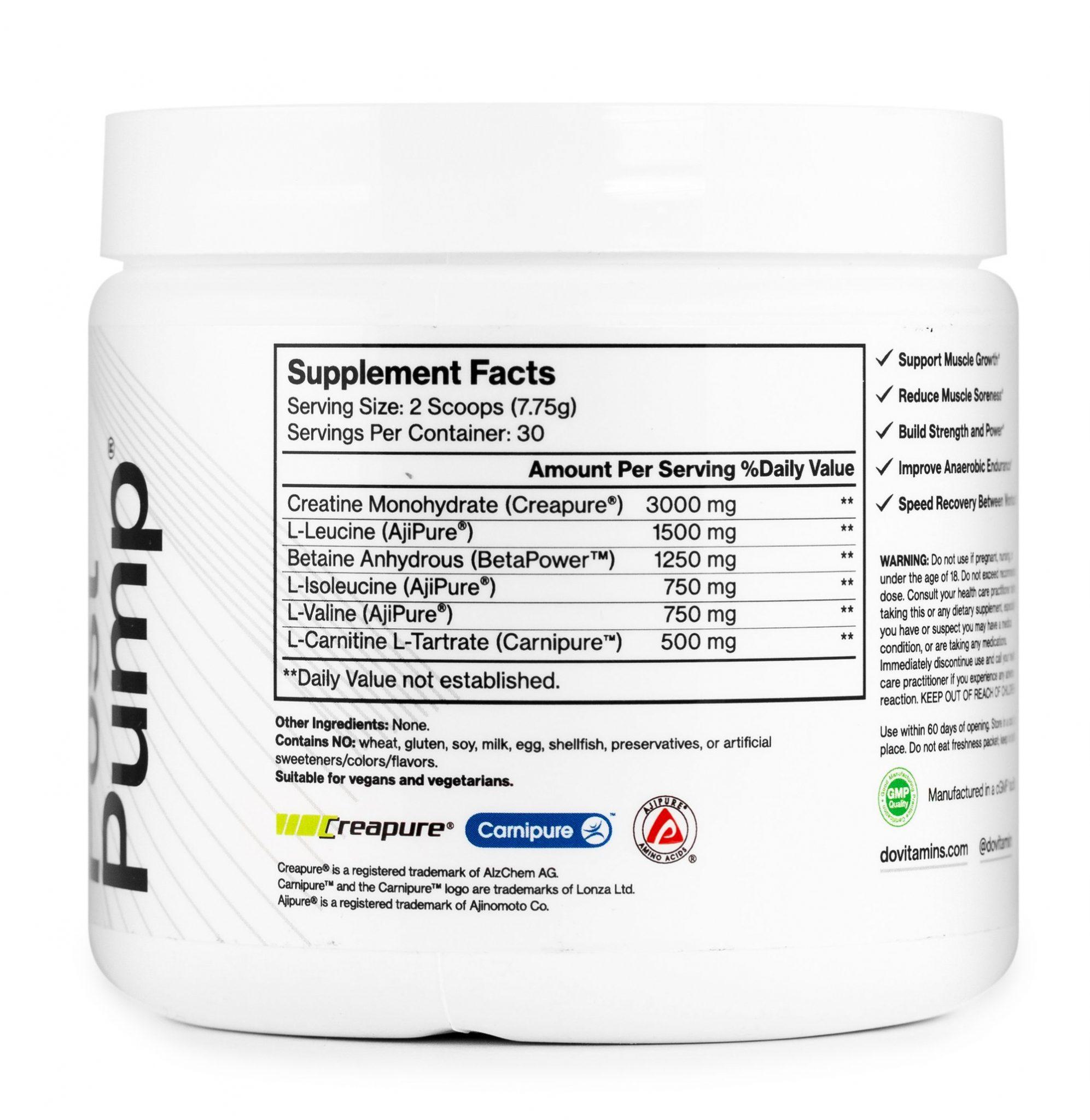 PostPump NFP - Do Vitamins - Certified Paleo, Keto Certified, Paleo Friendly, PaleoVegan by the Paleo Foundation