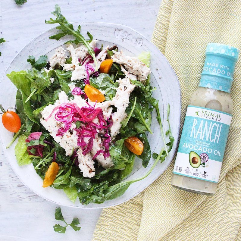 Primal kitchen certified paleo mayo dressings nutrition bars and more primal kitchen certified grain free certified paleo ranch dressing with salad malvernweather Images