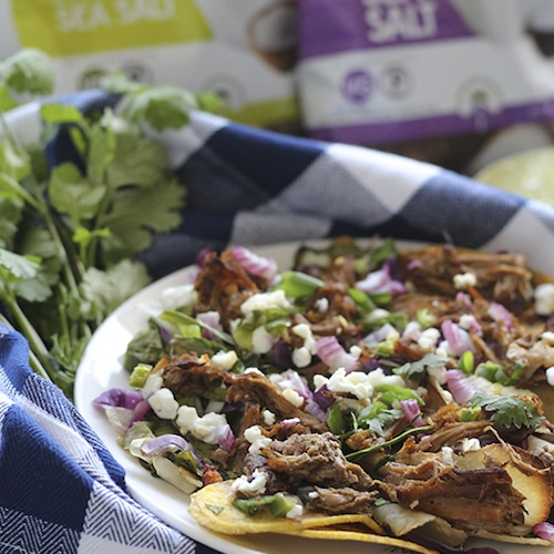 Pulled Pork and Goat Cheese Nachos - Artisan Tropic - Certified Paleo, Paleo Vegan - Paleo Foundation