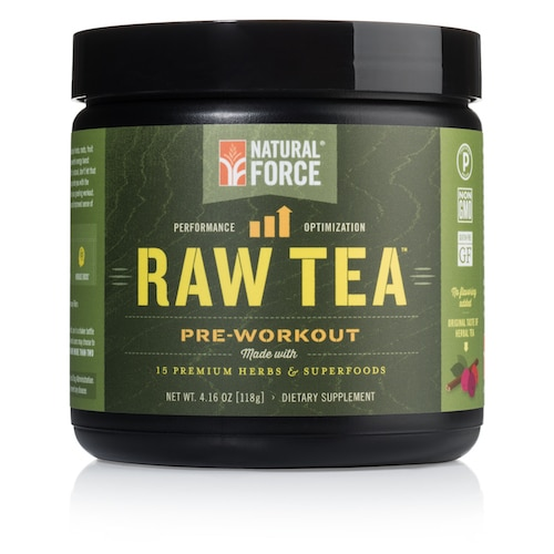 Raw Tea Natural Energy and Pre-workout Drink Mix - Natural Force - Certified Paleo - Paleo Foundation
