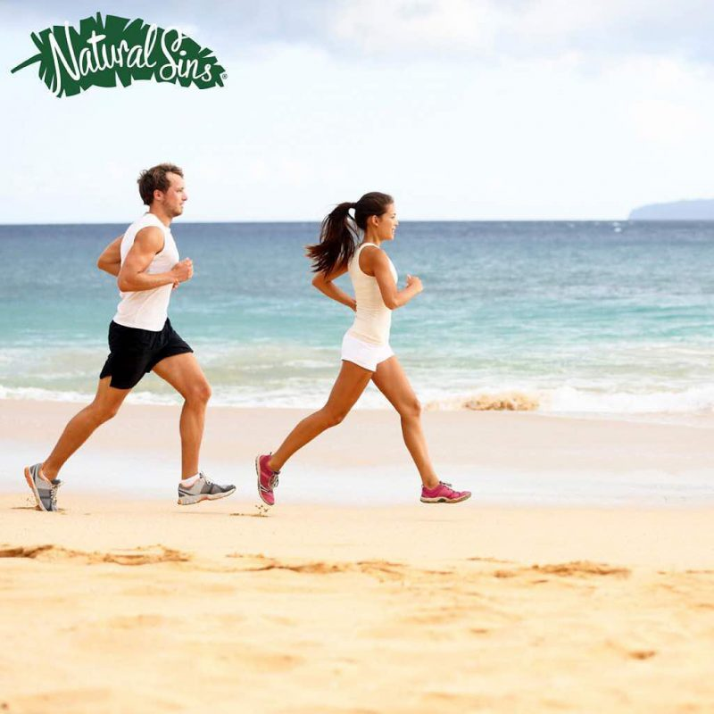 Running on the Beach - Naturals Sins - Certified Paleo Friendly by the Paleo Foundation