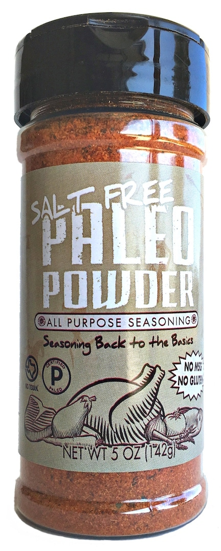 Salt-Free Paleo Powder Seasonings - At Paleo Powder Seasonings, we exist to provide the everyday home cook flavorful, one-stop, healthy seasoning blends. All of our products are Certified Paleo, Whole30 Approved and GO TEXAN. #paleo #certifiedpaleo #aipfriendly
