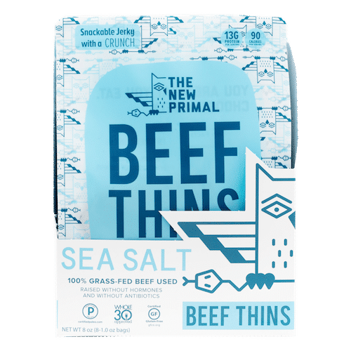 Sea Salt Beef Thins - The New Primal - Certified Paleo, KETO Certified - Paleo Foundation