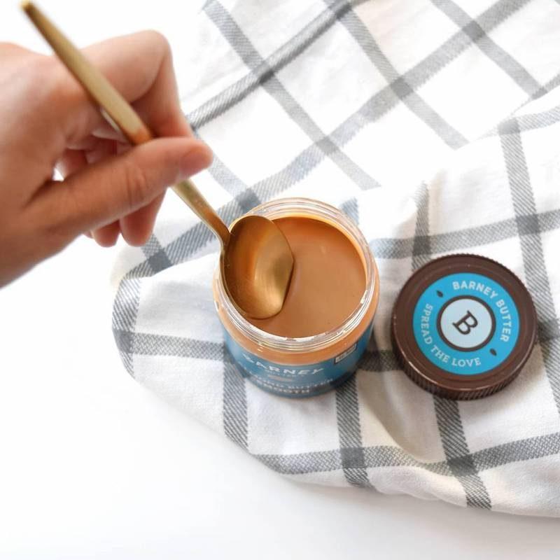 Smooth Almond Butter w: Spoon 3 - Barney Butter - Certified Paleo, Paleo Vegan - Paleo Foundation