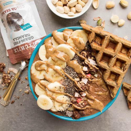 Smoothie Bowl Granola & Waffles - Kitchfix - Certified Paleo - Paleo Foundation