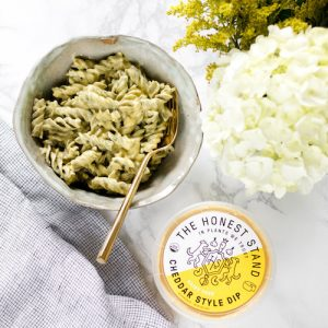 Spinach Rotini with Cheddar Style Dip - The Honest Stand - Certified Paleo, Paleo Vegan - Paleo Foundation