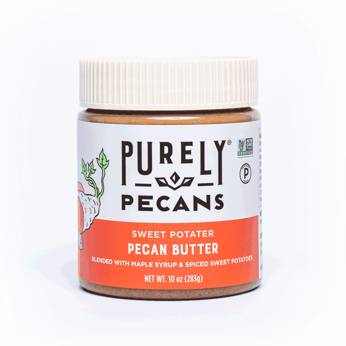Sweet Potater Pecan Butter resize - Purely Pecans - Certified Paleo, PaleoVegan by the Paleo Foundation