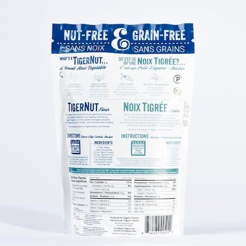 TigerNut Flour back - Organic Gemini - Certified Paleo, PaleoVegan - Paleo Foundation