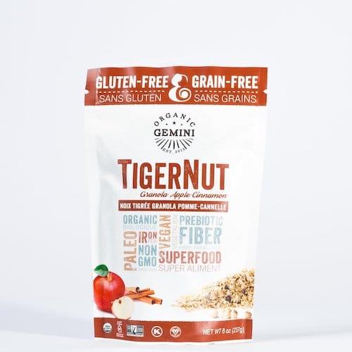 TigerNut Granola - Apple Cinnamon - Organic Gemini - Certified Paleo, PaleoVegan - Paleo Foundation