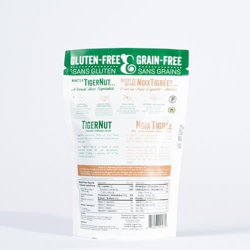 TigerNut Granola- Banana Cacao back - Organic Gemini - Certified Paleo, PaleoVegan - Paleo Foundation