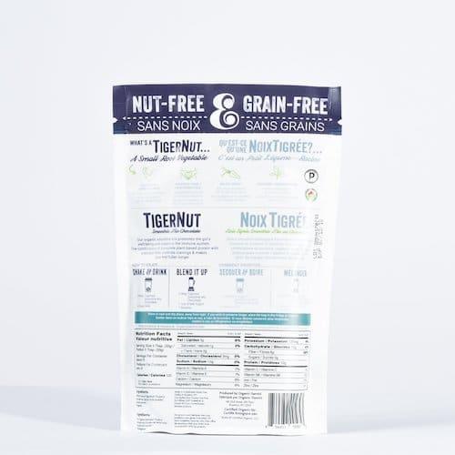 TigerNut Smoothie Mix - Chocolate back - Organic Gemini - Certified Paleo, PaleoVegan - Paleo Foundation